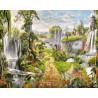 Парк водопадов Раскраска картина по номерам на холсте ZX 22230