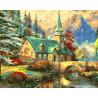 Дом с зеленой крышей Раскраска картина по номерам на холсте ZX 22226