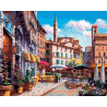 Цветочный квартал Раскраска картина по номерам на холсте ZX 22197
