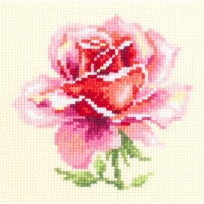 Розовая роза Набор для вышивания Чудесная игла 150-002