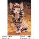 Кот фараона Раскраска картина по номерам на холсте
