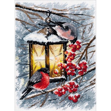 Рождественский свет Набор для вышивания Овен 1024