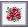 Пример оформления в рамку Ароматная ягода Набор для вышивания Овен 1089