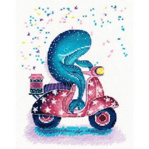 Мотоциклист Набор для вышивания Овен 1183