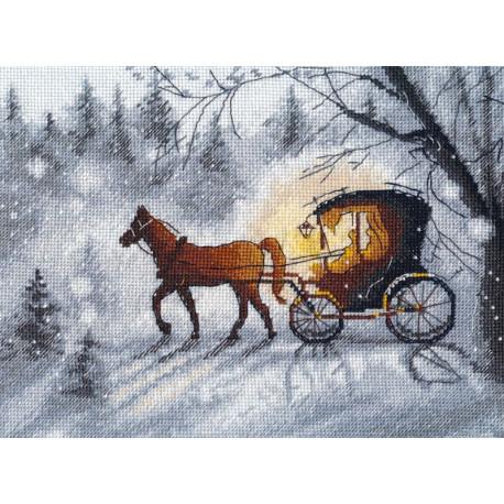 Вечерняя прогулка Набор для вышивания Овен 1188