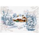 Сказка зимнего леса Набор для вышивания Овен 1025