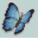 Голубая Морфо значок Набор для вышивания Овен