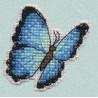 Голубая Морфо значок Набор для вышивания Овен 1172