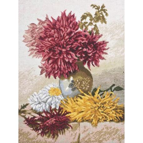 Хризантемы Набор для вышивания Палитра