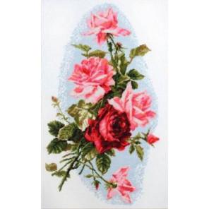 Розовый шик Набор для вышивания Палитра