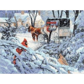 Краски зимы Набор для вышивания Палитра