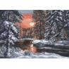 Зимний вечер Набор для вышивания Палитра