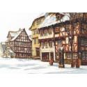Зимняя улица Набор для вышивания Палитра