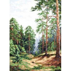Сосновый лес Набор для вышивания Палитра