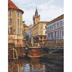 Лавочный мост. Старый Кенинсберг Набор для вышивания Палитра