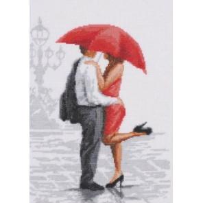 Красный зонтик Набор для вышивания Палитра