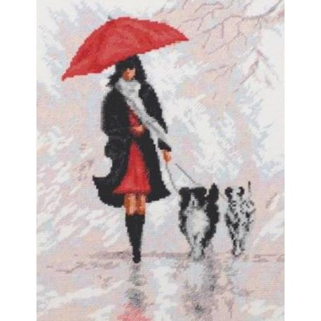 Дама с собачками Набор для вышивания Палитра