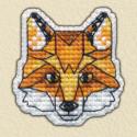 Лисица значок Набор для вышивания Овен 1093