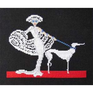 Дама в белом Набор для вышивания Овен 080