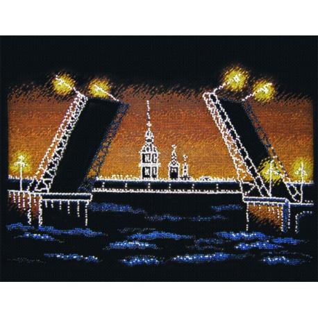 Ночной Петербург Набор для вышивания Овен 451