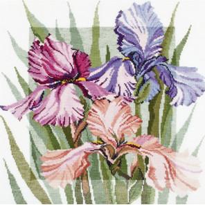 Цветущие ирисы Набор для вышивания Овен 341