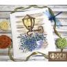 Фонарь с цветами Набор для вышивания Овен 1153