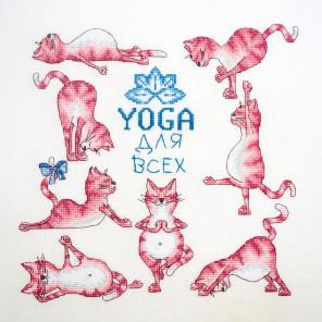 Йога для всех Набор для вышивания Марья Искусница