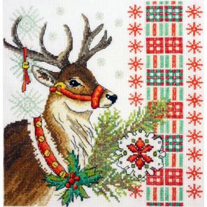 Новогодний олень Набор для вышивания Марья Искусница