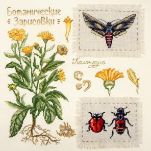 Календула. Ботаника Набор для вышивания Марья Искусница