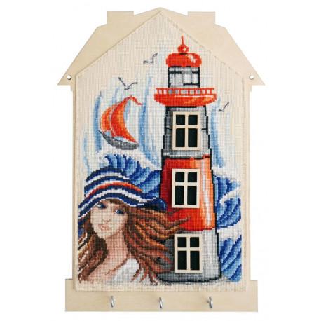 Девушка у моря Набор для создания ключницы Марья Искусница