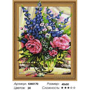 Количество цветов и сложность Пионы с колокольчиками Алмазная мозаика вышивка на подрамнике 3D KM0170