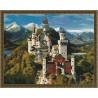 Замок Нойшванштайн Алмазная мозаика вышивка на подрамнике Molly KM0150