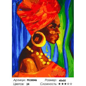 Количество цветов и сложность Этнические мотивы Раскраска картина по номерам на холсте PK30046