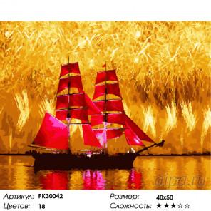 Количество цветов и сложность Фейерверк надежды Раскраска картина по номерам на холсте PK30042