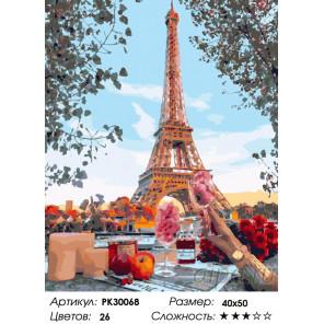 Количество цветов и сложность Идеальный ужин Раскраска картина по номерам на холсте PK30068