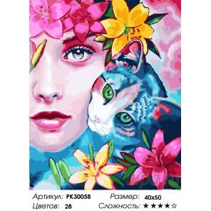 Количество цветов и сложность Весенний венок Раскраска картина по номерам на холсте PK30058