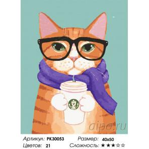 Количество цветов и сложность Кофе и шарфик Раскраска картина по номерам на холсте PK30053