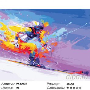 Количество цветов и сложность Скорость спуска Раскраска картина по номерам на холсте PK30075