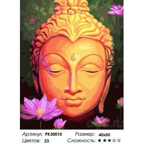 Сложность и количество цветов Будда Раскраска картина по номерам на холсте PK30010