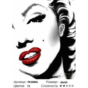 Улыбка Мэрилин Раскраска картина по номерам на холсте PK30006