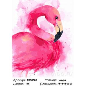 Розовый фламинго Раскраска картина по номерам на холсте PK30005