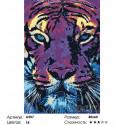 Сложность и количество цветов Фиолетовый тигр Раскраска картина по номерам на холсте A507