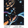 Вселенная влюбленных Раскраска картина по номерам на холсте