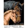 Лошадь с жеребенком Раскраска картина по номерам на холсте
