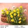 Одуванчики в корзинке Раскраска картина по номерам на холсте