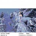 Сложность и количество цветов Снежная фея Раскраска картина по номерам на холсте RA302