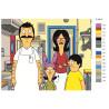 Раскладка На кухне Раскраска картина по номерам на холсте Z-AB117