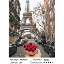 Сложность и количество цветов Завтрак в Париже Раскраска картина по номерам на холсте PK24074