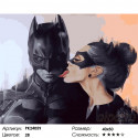 Бэтмен и женщина-кошка Раскраска картина по номерам на холсте