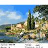 Берег озера Комо Раскраска картина по номерам на холсте